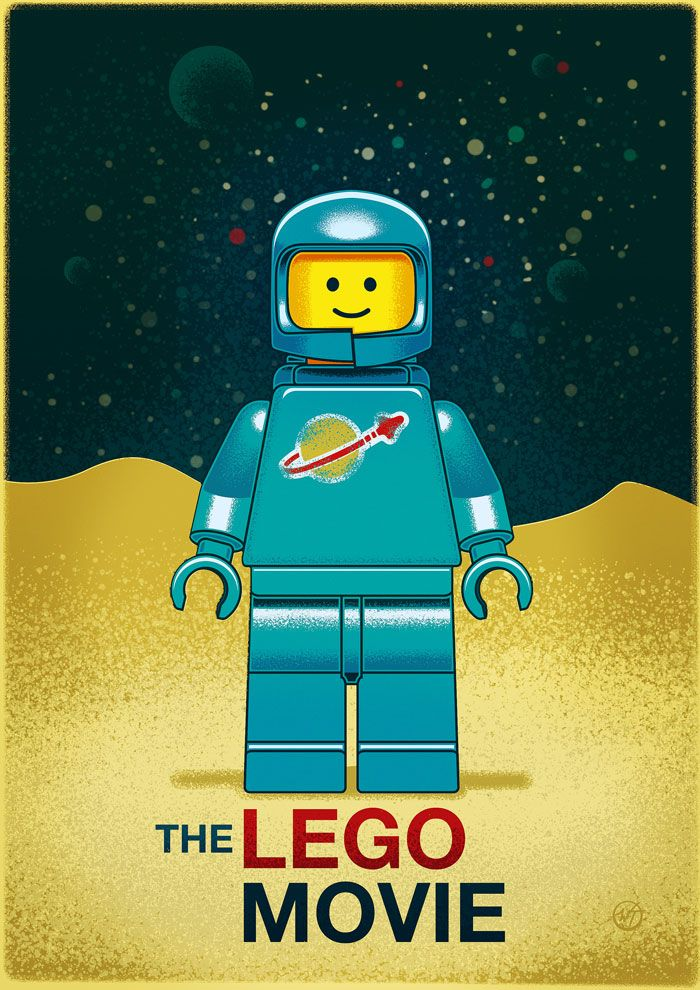 The Lego Movie Alternative Vintage Poster By Wes Lego Minifigures Lego Poster Vintage Posters Lego Art