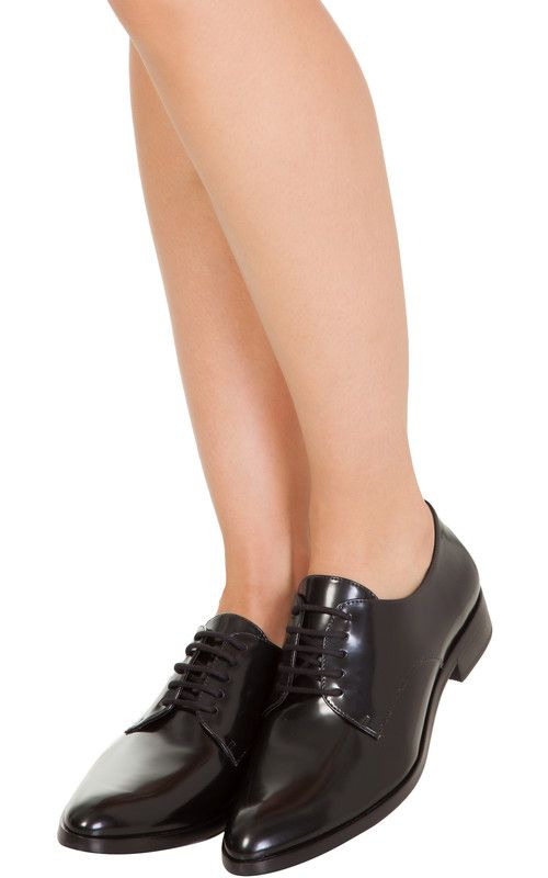 SCHUTZ Oxford preto classic verniz Schutz preto Oxford OQVestir Sapatos e42561