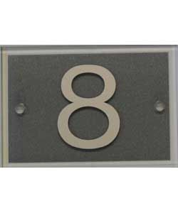 Homebase Door Number - Silver Glass - 8 £19.99  sc 1 st  Pinterest & Homebase Door Number - Silver Glass - 8 £19.99 | Home | Pinterest ...
