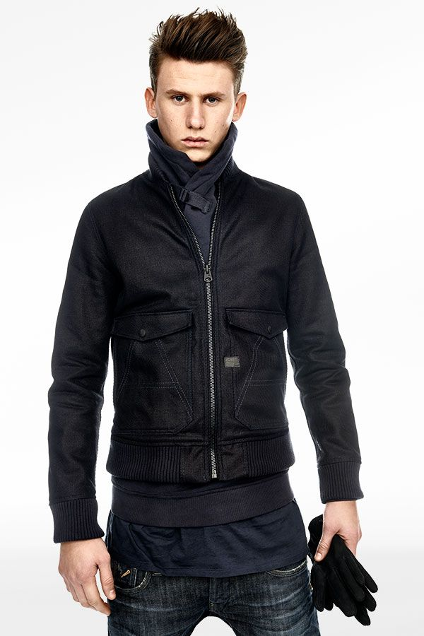 f013266d84a29 The A-Crotch 3D Bomber for men is worn here with the new G-Star 3301 Super  Slim, the Kurleigh Aero Shirt, Otis Gloves and the Finchement T-shirt.   gstar   ...
