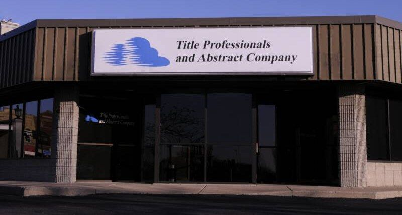 Title Professionals And Abstract Company Is A Full Service Title
