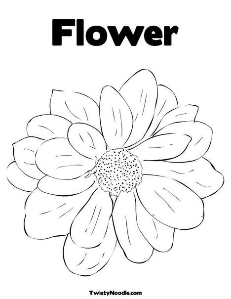 Coloring pages flower this