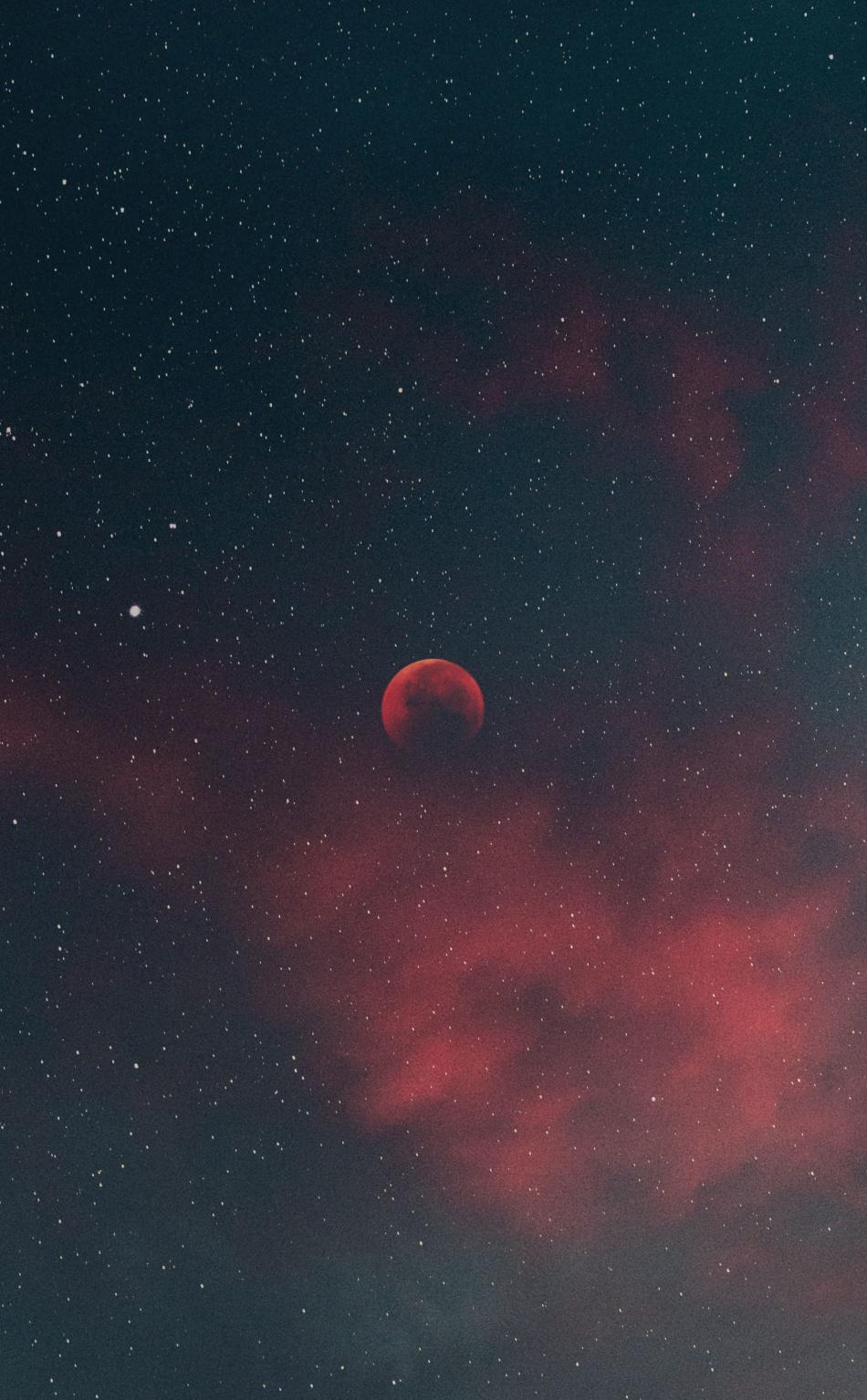 900 1350 Lua De Sangue Lua Vermelha Papel De Parede Vermelho