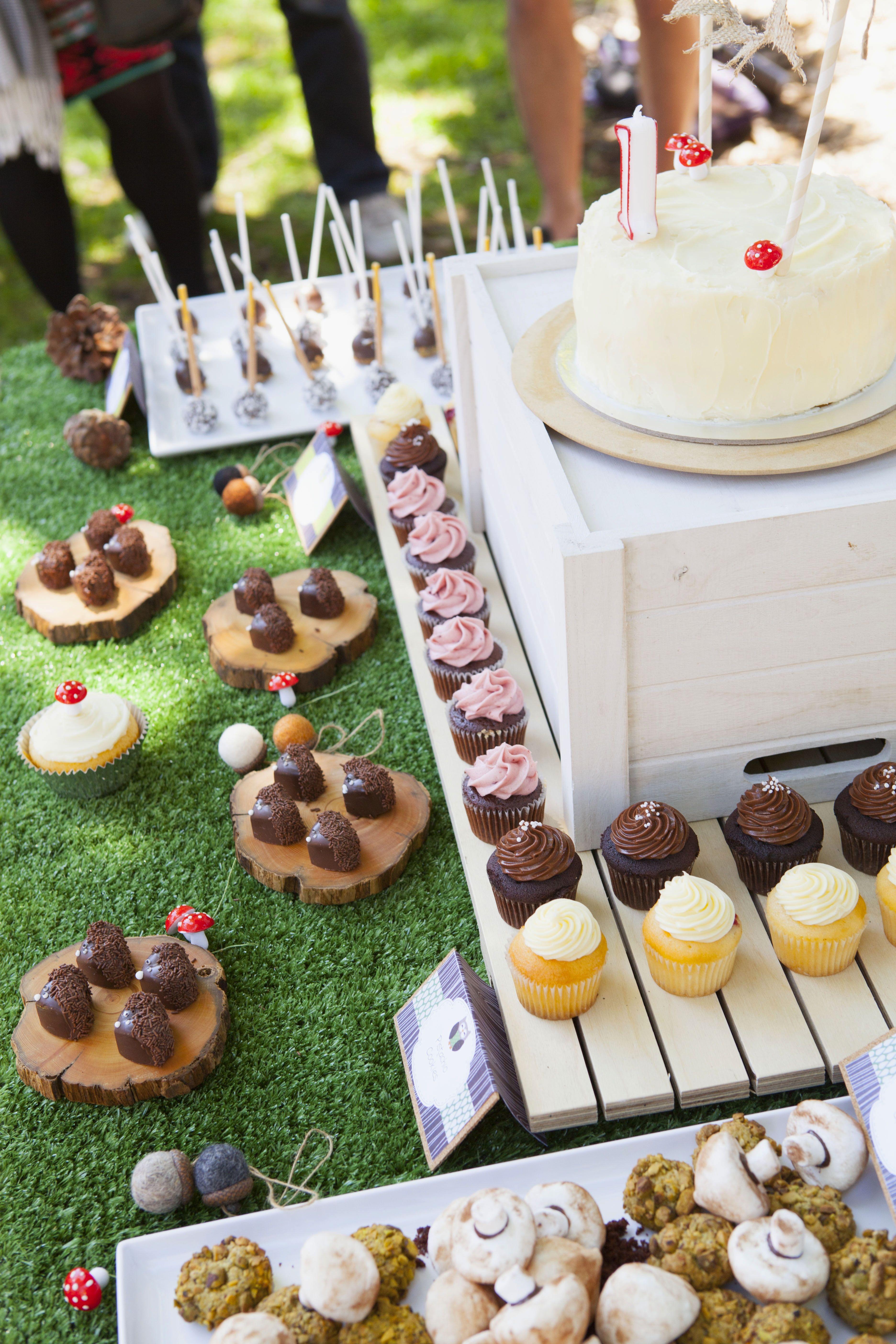 Woodland Theme 1st Birthday Dessert Parlour Melbourne