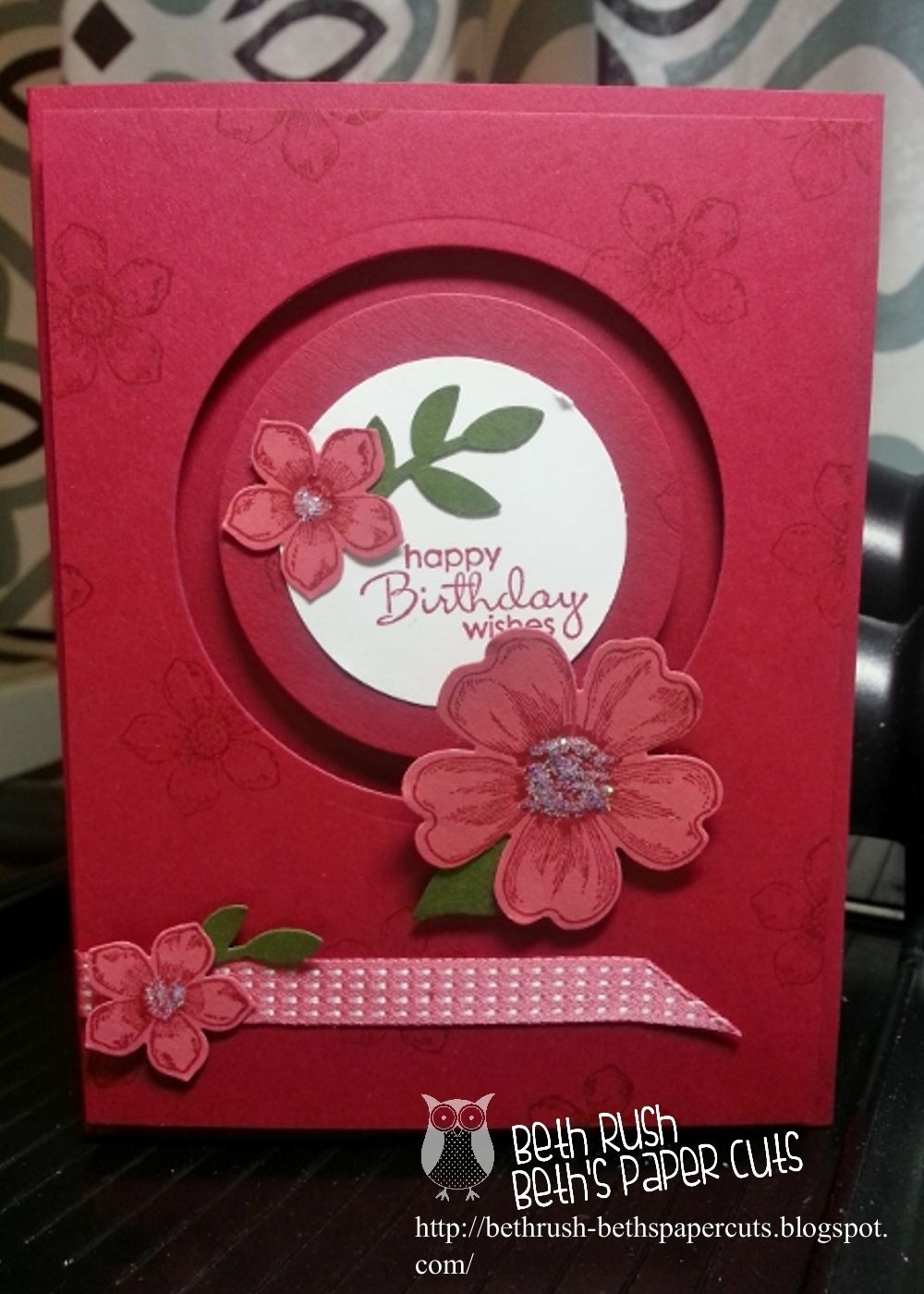 Stampin Up Handmade Card From Beth S Paper Cuts Flower
