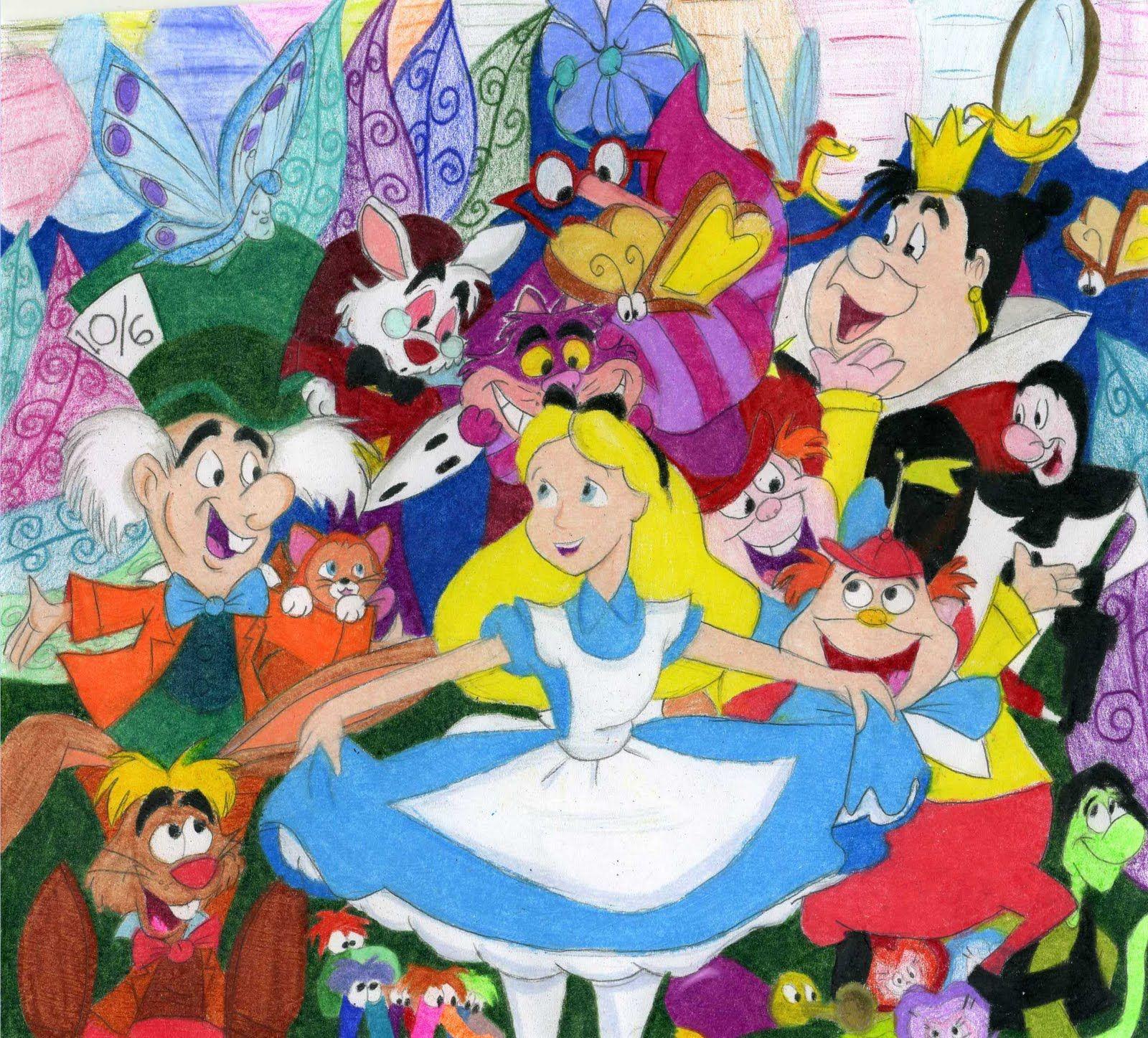 Alice In Wonderland Disney Characters: Alice Wonderland Cartoons Disney