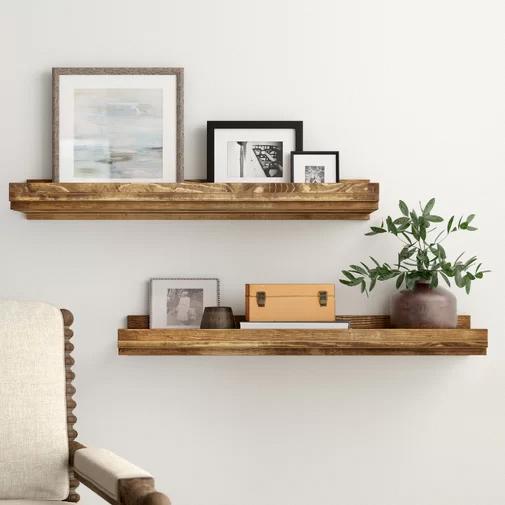 Shelvesinbedroom In 2020 Wood Floating Shelves Floating Shelves Wooden Wall Shelves