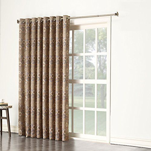 Sun Zero Celestia Energy Efficient Patio Door Curtain Panel 100 X