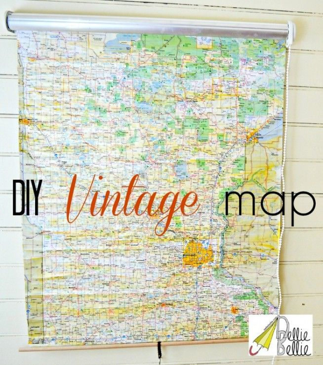 Simple steps to make a vintage roll-up map (from a shade ...