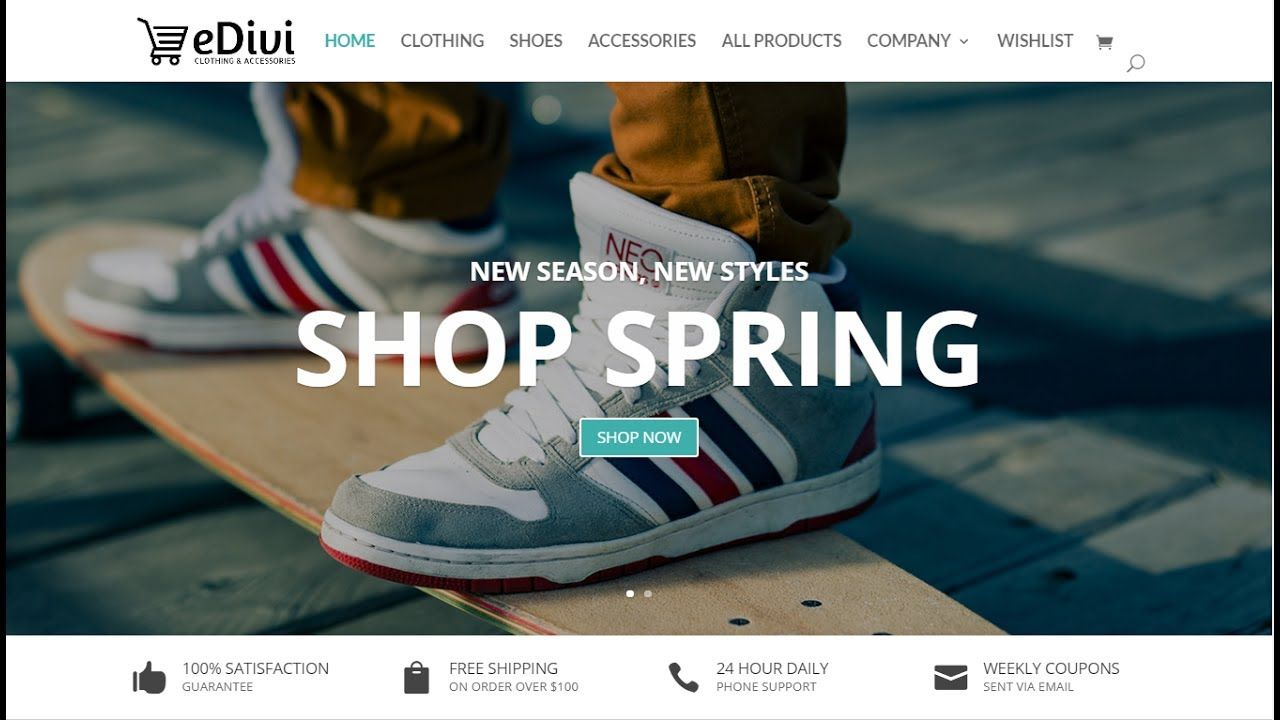 How to create an ecommerce website with wordpress 2017 divi theme wordpress free theme 2017 in this awesome video tutorial i will show you how to create build and make an ecommerce website with wordpress baditri Choice Image