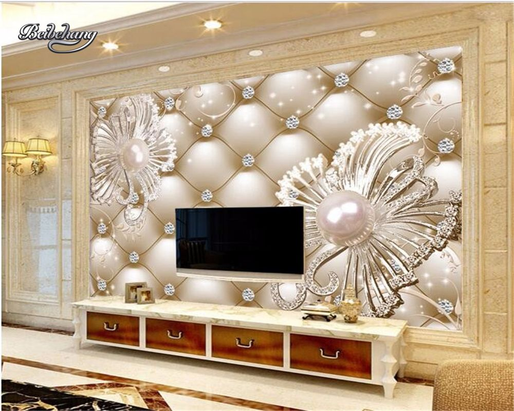 Beibehang Customize Any Size Wallpaper Soft Luxury 3 D Dia