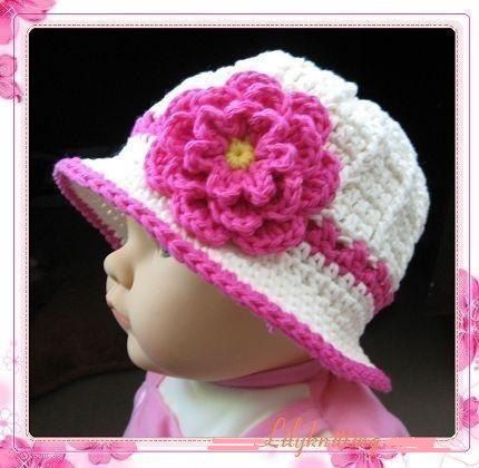 PATTERN in PDF -- crocheted 5T - preteen baby cloche beanie hat with a large rose flower (Cloche 1)-- 5T - preteen on Etsy, $6.99