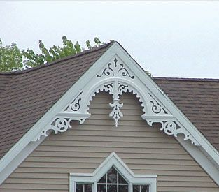 Gable accents free gable decorations quality home - Exterior house gable decorations ...