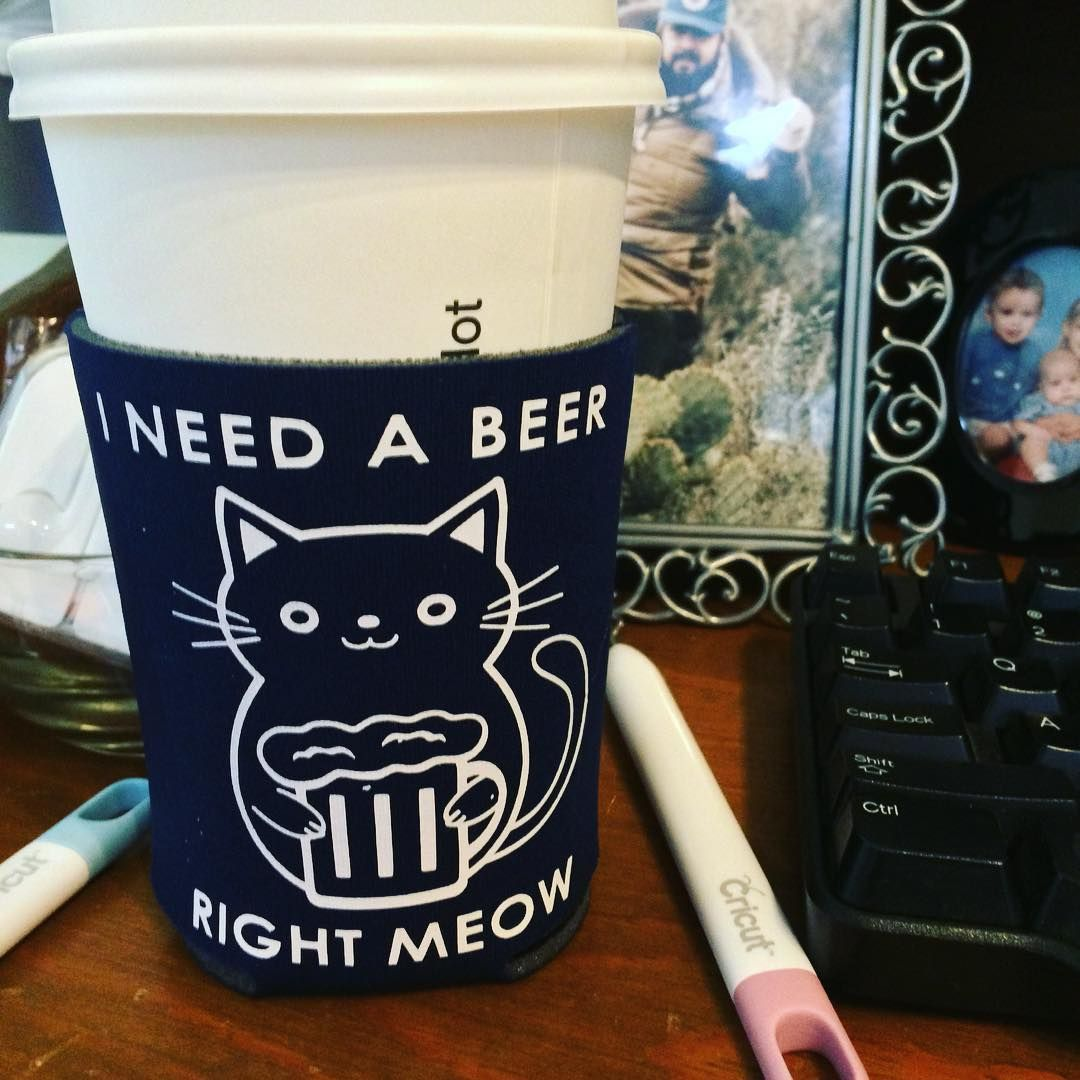 I need a beer right meow cat SVG Cuttable Design I need