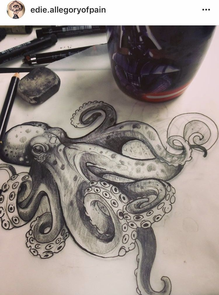 Octopus Style I Like Giant Tattoo For My Hip Tattooyou