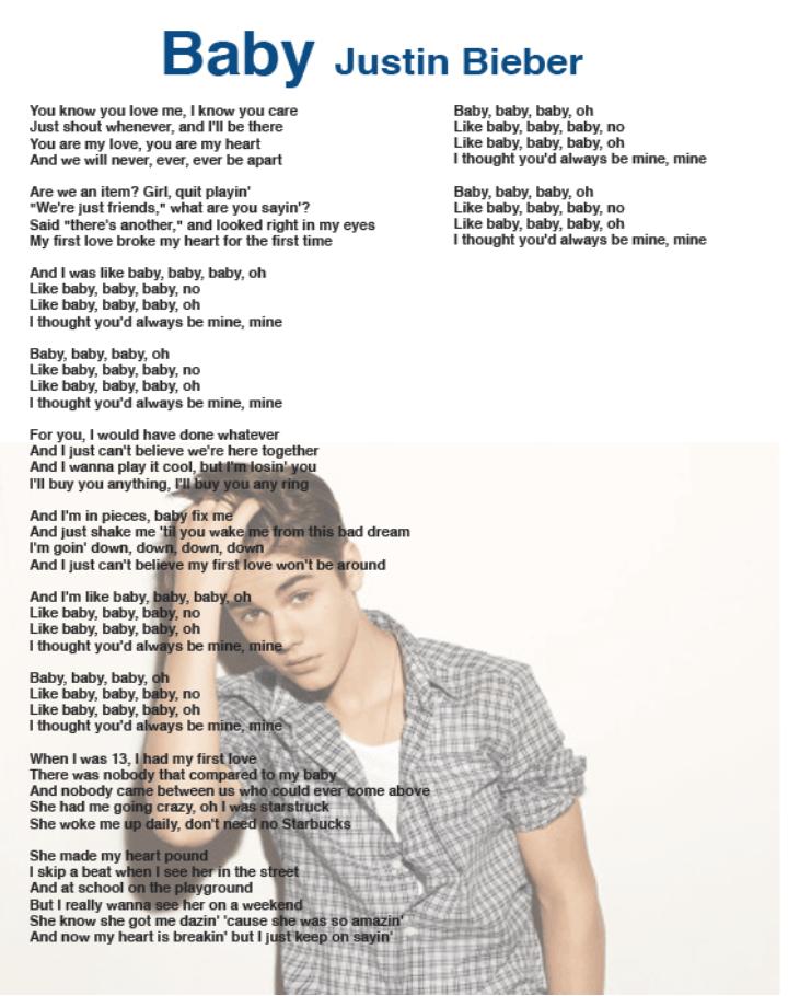 Justin Bieber Baby Song Download : justin, bieber, download, Lyrics, Center:, Justin, Bieber