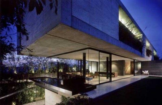 Maison contemporaine en Béton et en verre | Maisons Modernes ...