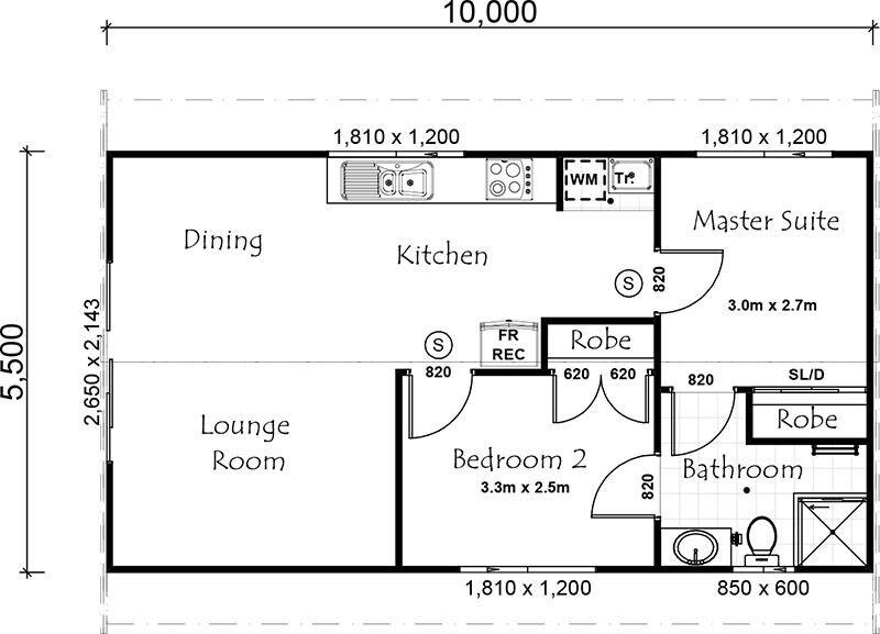 2 bedroom guest house floor plan house floor plans