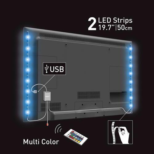 Barkan Led Multi Color Usb Mood Light For Tv At Menards Interior Led Lights Led Lighting Bedroom Lights Behind Tv