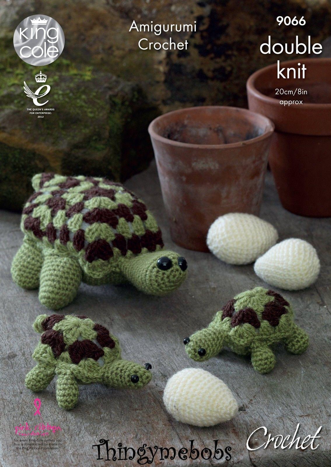 CROCHET PATTERN Toy Tortoise Family /& Eggs Stuffed Toys PATTERN 9066