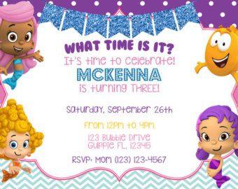 Bubble Guppies Invitation Bubble Guppies Birthday Invitations