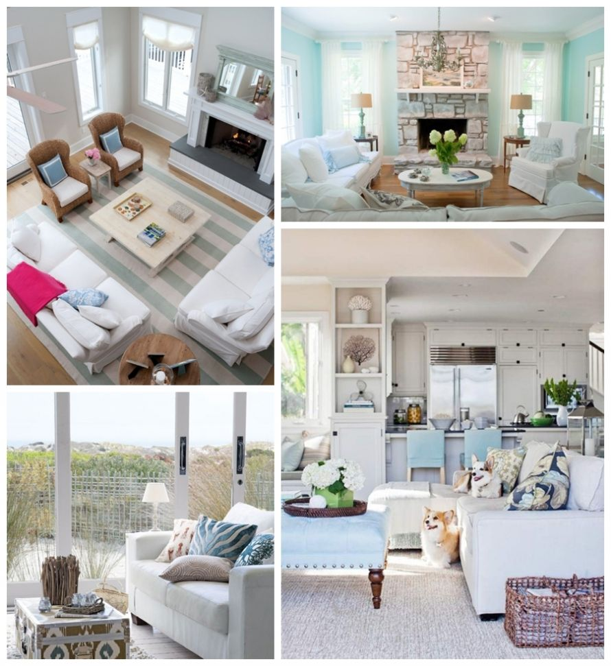Coastal Chic Living Room Slipcovered couches white emily thorne inspired living room