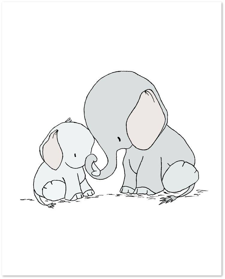 Elephant Nursery Art Elephant Mama And Baby You Are Mine