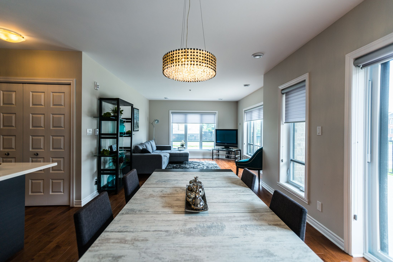 Condo model unit with open space concept condominium