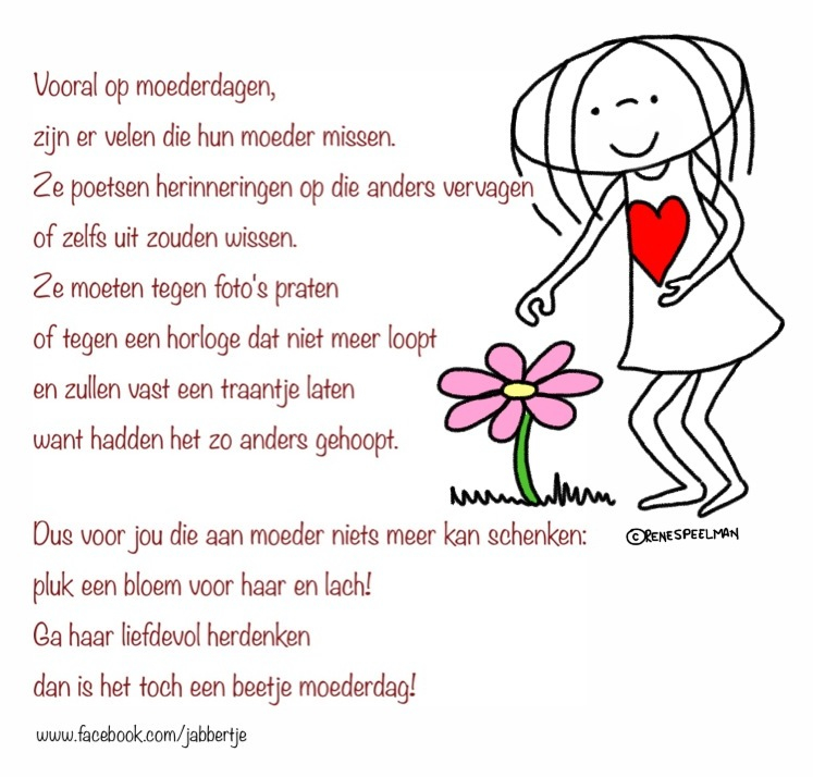 Moederdag Voor Overleden Moeders Jabbertje Moeders
