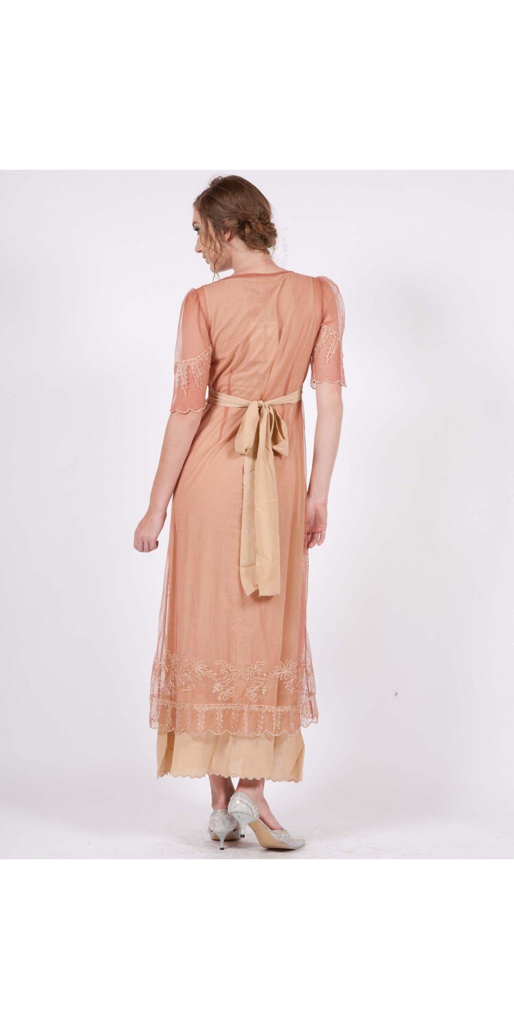 40007 New Vintage Titanic Dress in Rose/Gold