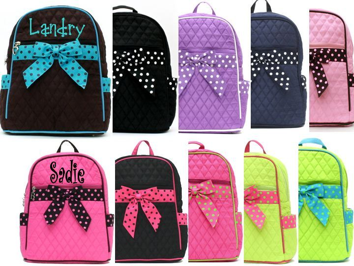 Solid Monogrammed Toddler Backpacks | Vera Bradley | Pinterest ...