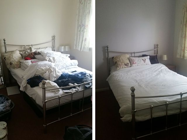 Spare room before and after