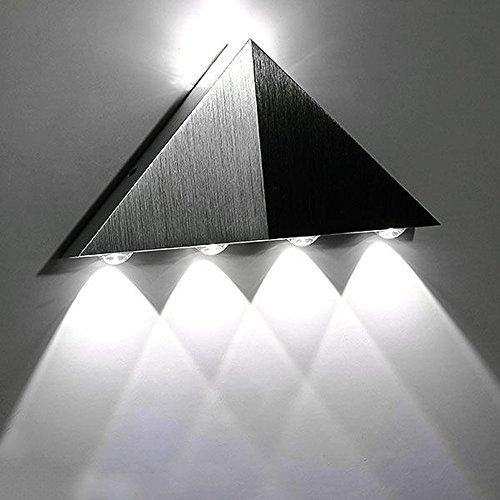 Photo of Lemonbest Modern Triangle 5W LED Wall Sconce Light Fixture Indoor Hallway Up Down Wall Lamp Spot Light Aluminum Decorative Lighting for Theater Studio Restaurant Hotel – White