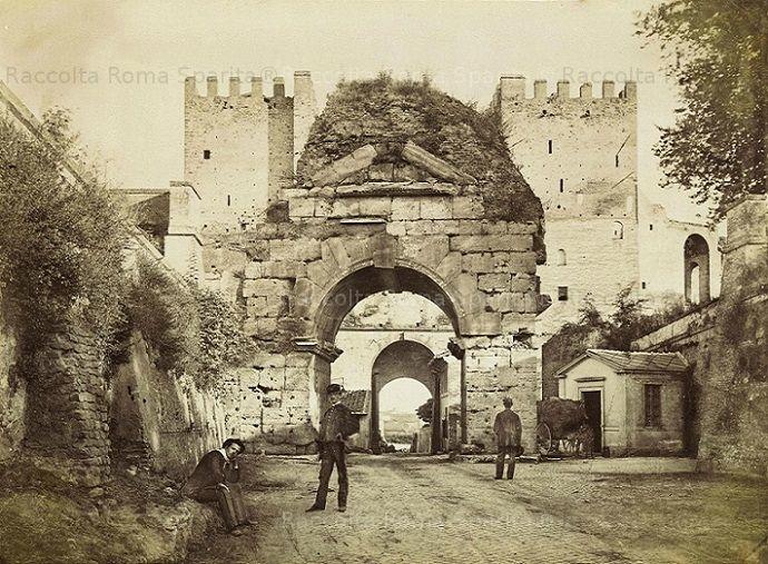 Foto storiche di Roma - Arco di Druso Anno: 1870 ca