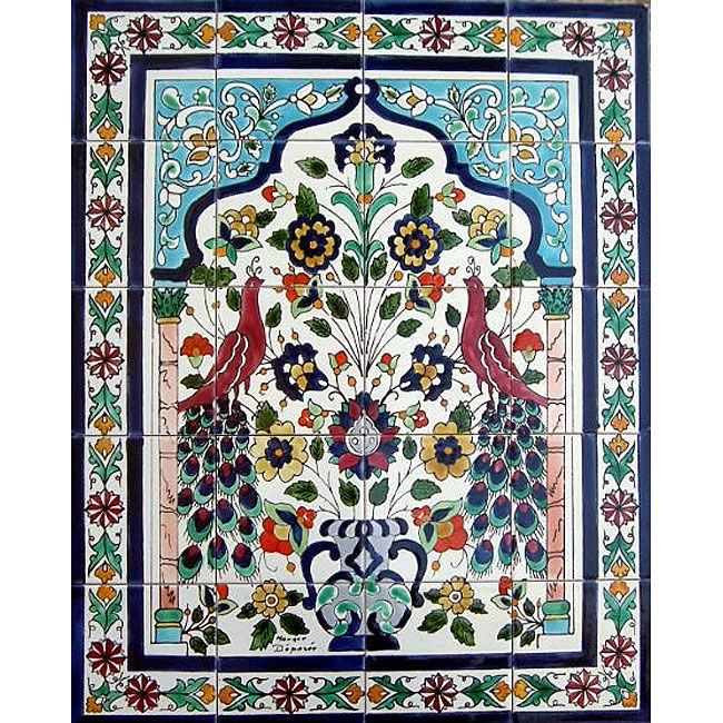Decorative Tiles For Wall Art State Of The Art Peacock Design Ceramic Tile Mosaic Wall Mural