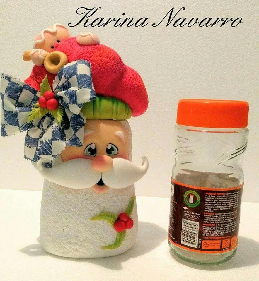Pin de liana dantas em potes pinterest potes natal e for Frascos decorados para navidad