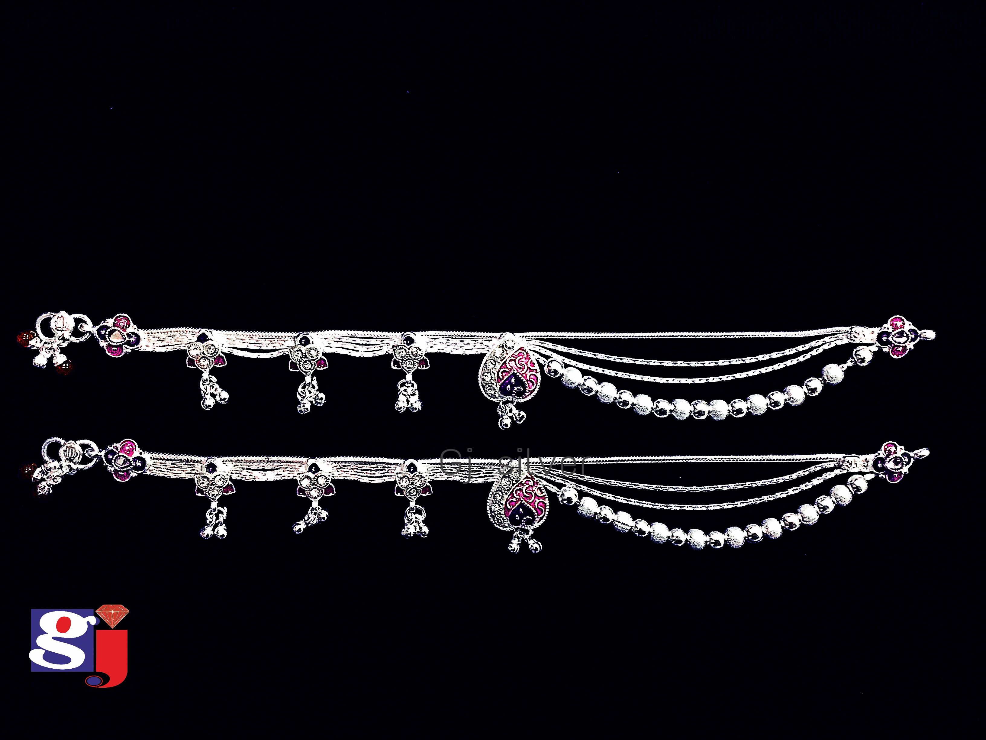 New design silver payal , Indian traditional wedding silver ...