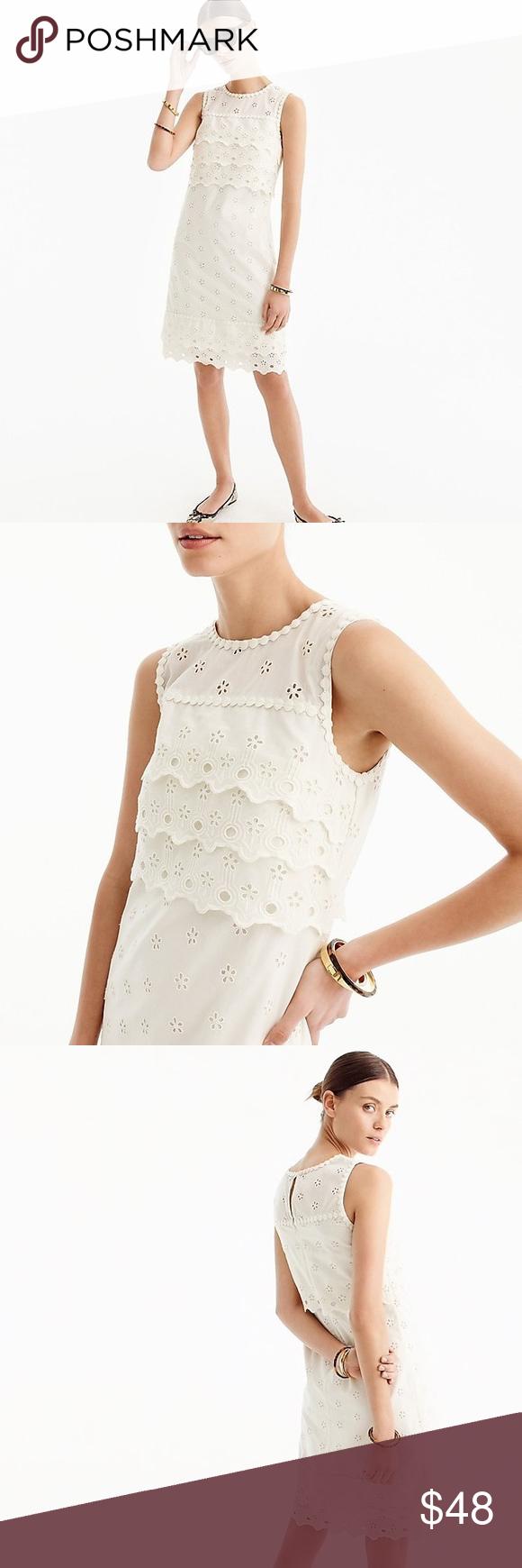 Nwt Jcrew Eyelet Shift Dress White Eyelet Dress Dresses Eyelet Dress [ 1740 x 580 Pixel ]