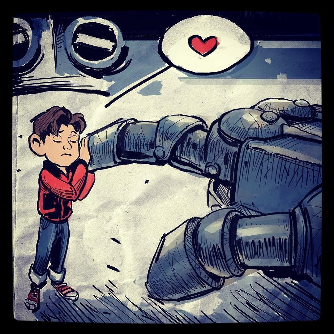 regram @felixxip One of my favourite scene in Iron Giant.  #drawing #animation #digitalart #sketch #roboxsketchbook #irongiant #robot #felixipart
