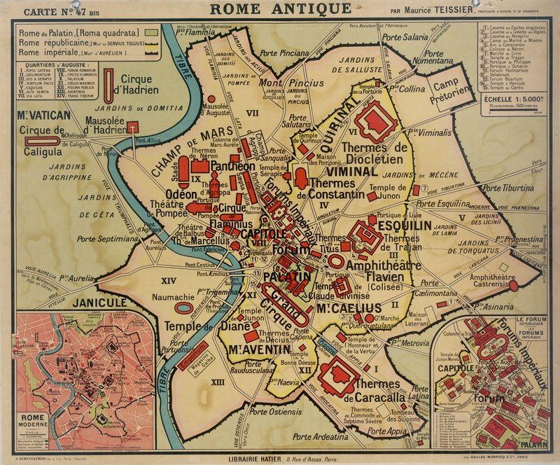 carte de rome antique Rome antique   Carte rome, Rome antique, Rome