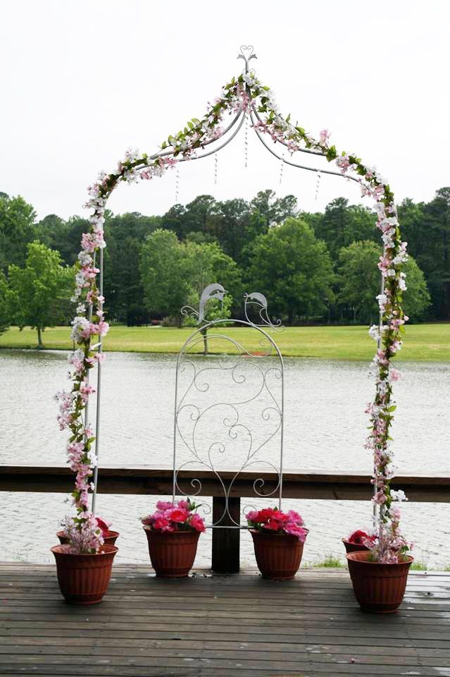 Arch Decoration Cranberry Wedding Hobby Lobby Flowers Arches