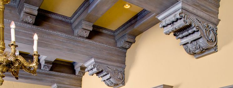 The Classic Egg And Dart Molding Moulding And Millwork Ceiling Treatments Coffered Ceiling