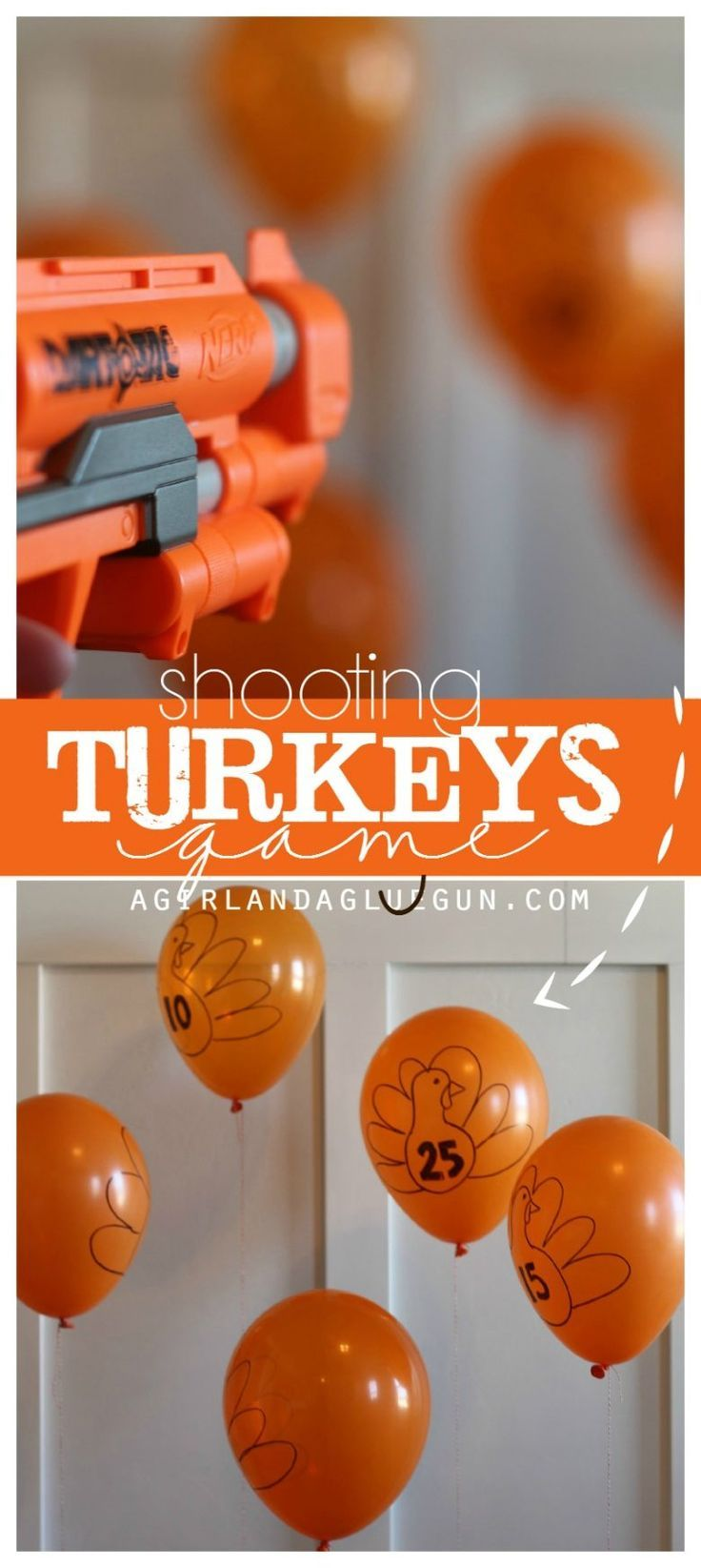 shooting turkeys game! - A girl and a glue gun