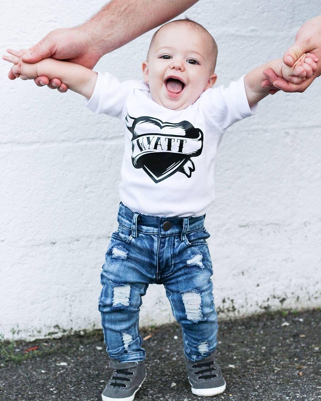 b119b2110 toddler and baby distressed skinny jeans cool kids fashion raxtin boy