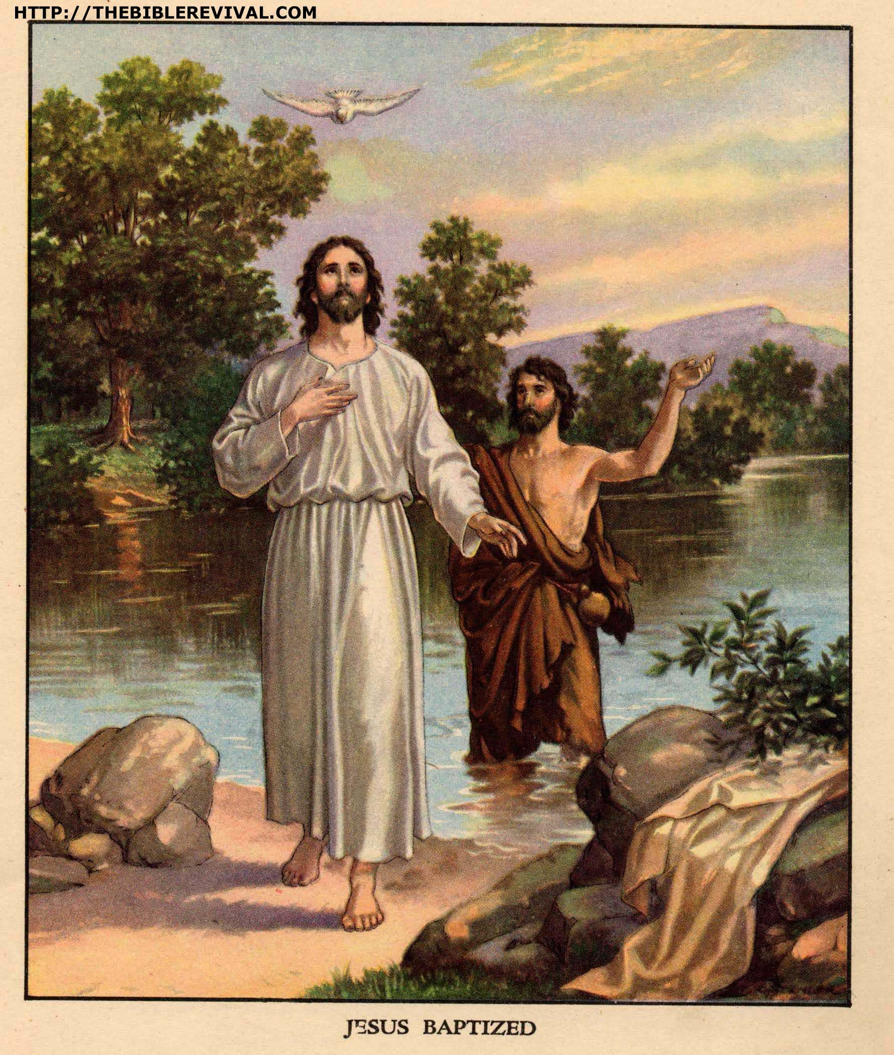 Jesus Baptized With Images