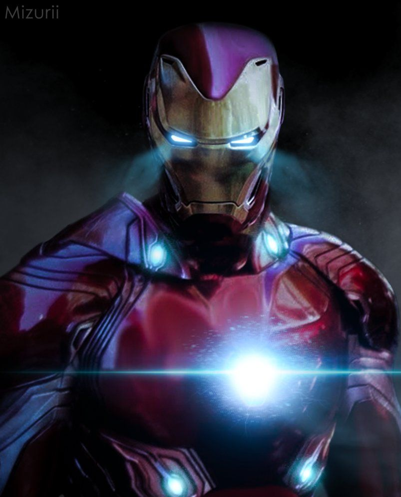 hey there! this is an artwork/edit of ironman in his new suit for