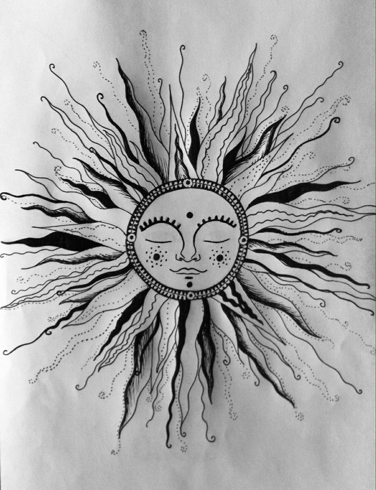 It's just an image of Selective Tiny Sun Drawing