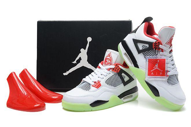 Nike Michael Jordan 4 Yeezy White - Black/Red Glow In The Dark Mens Sport