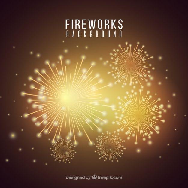 Download Golden Firework Background for free Fireworks