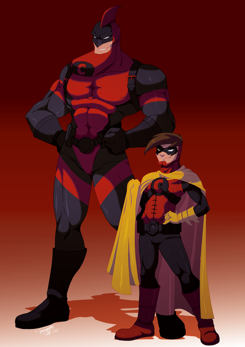 The Crimson Chin | Superhero art projects, Superhero art ...